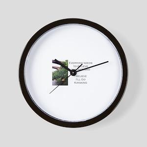 Believe in Kayaking Wall Clock