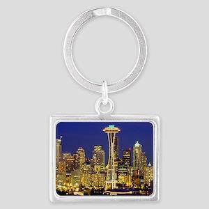 Seattle Landscape Keychain