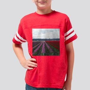 flower04tile Youth Football Shirt