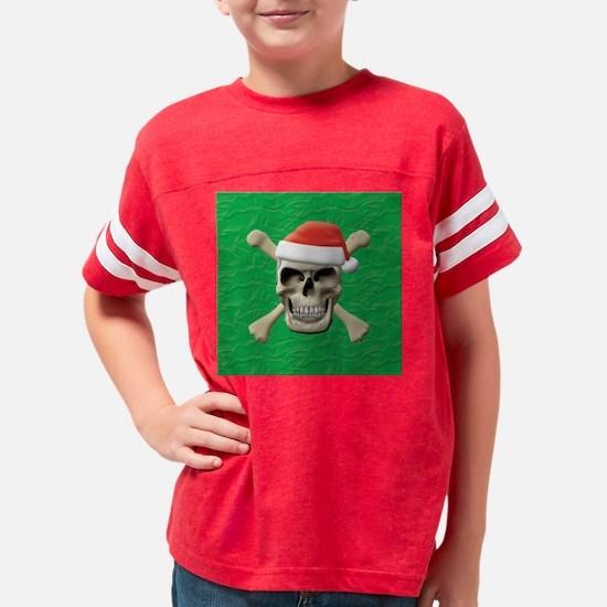 Santa Skull Youth Football Shirt