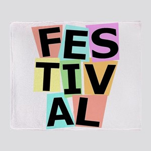 Festival II Throw Blanket