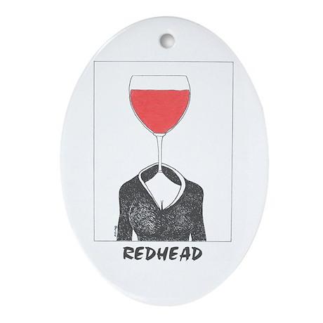Redhead Oval Ornament