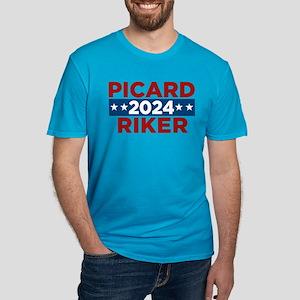 Star Trek Picard Riker Men's Fitted T-Shirt (dark)