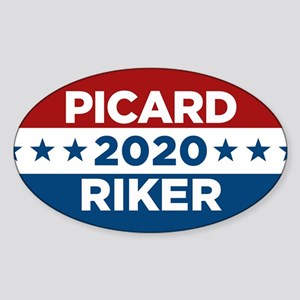 Star Trek Picard Riker 2020 Sticker (Oval)