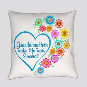 Granddaughter Special Heart Everyday Pillow