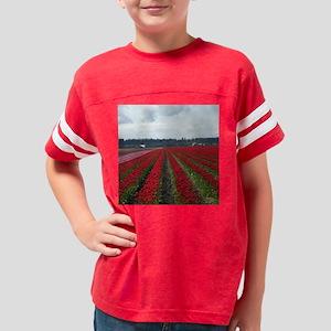 flower06tile Youth Football Shirt