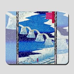 Hiroshige Kintai Bridge, Snowstorm Mousepad