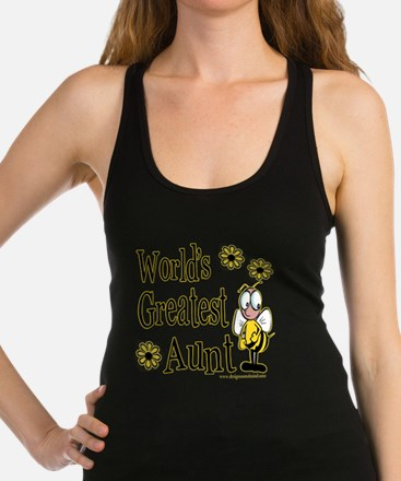Beeworldsgreatestaunt copy.png Racerback Tank Top