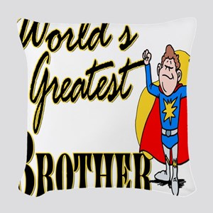 Superdadworldsgreattbrother copy Woven Throw P