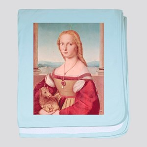 Lady with the Unicorn - Raphael Santi baby blanket
