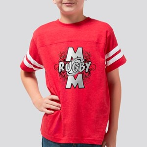 Rugby Mom (cross) Youth Football Shirt