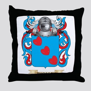 Thorson Family Crest (Coat of Arms) Throw Pillow
