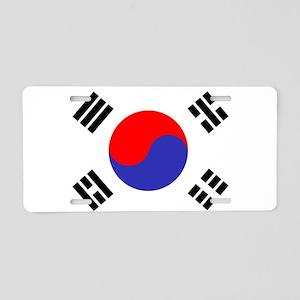Flag South Korea Aluminum License Plate