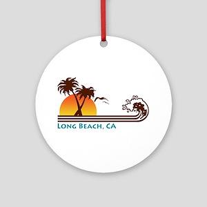 Long Beach California Ornament (Round)