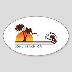 Long Beach California Oval Sticker