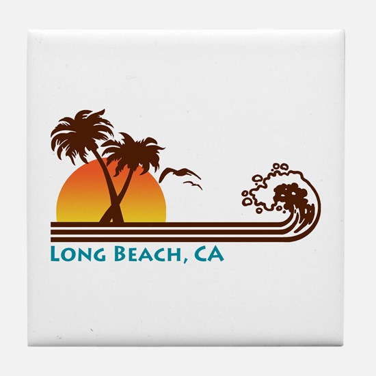 Long Beach California Tile Coaster