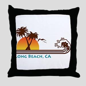 Long Beach California Throw Pillow