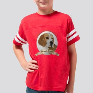 Beagle Mom Youth Football Shirt