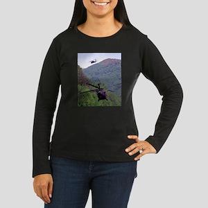 Mountain Weaving Women's Long Sleeve Dark T-Shirt