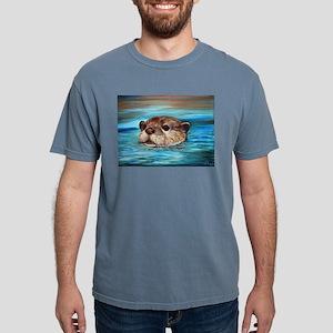 River Otter Mens Comfort Colors Shirt
