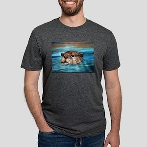 River Otter Mens Tri-blend T-Shirt
