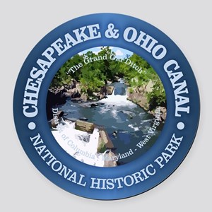 C & O National Historic Park Round Car Magnet