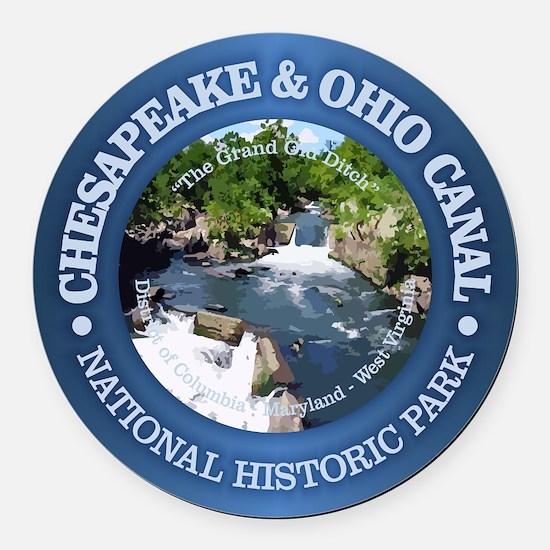 C & O National Historic Park Round Car Magnet