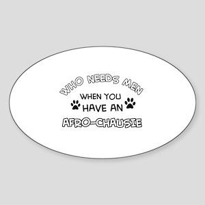 afro-chausie designs Sticker (Oval)
