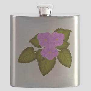 Purple African Violets Flask