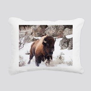 Buffalo Rectangular Canvas Pillow
