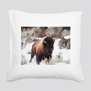 Buffalo Square Canvas Pillow