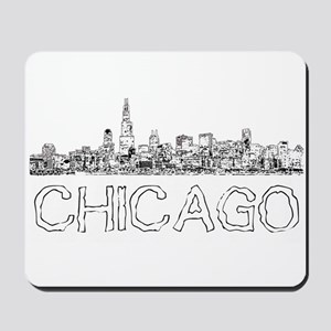 Chicago outline-4 Mousepad