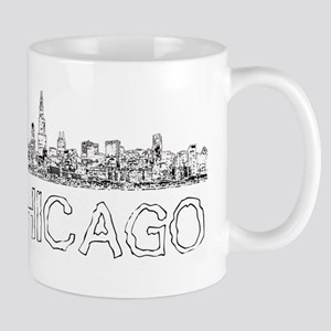 Chicago outline-4 Mugs