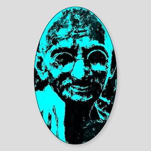 Gandhi Sticker (Oval)