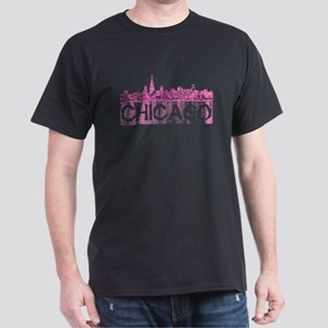 Chicago outline-4-PINK T-Shirt