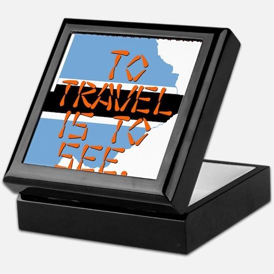 To Travel Is To See - Botswana Keepsake Box