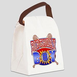 Baseball 8th Birthday Canvas Lunch Bag