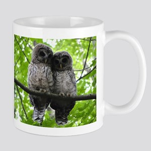 Cuddling Owls Stainless Steel Travel Mugs