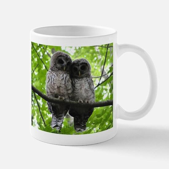 Cuddling Owls Stainless Steel Travel Mugs