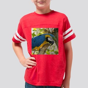 Blue and Gold Macaw (5) Youth Football Shirt