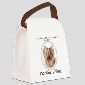 Yorkie Mom Canvas Lunch Bag
