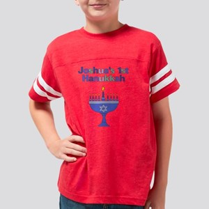 Joshuas 1st Hanukkah Menorah Youth Football Shirt