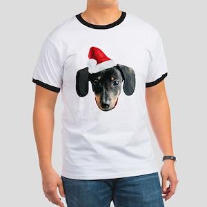 Dachshund_Xmas_face001b T-Shirt