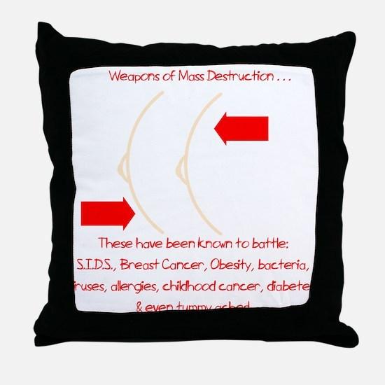 Weapons of Mass Destruction Throw Pillow