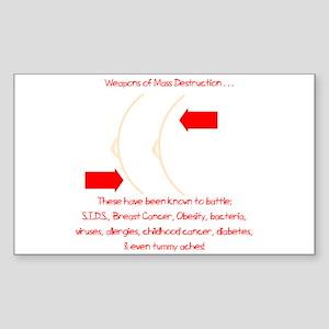 Weapons of Mass Destruction Rectangle Sticker