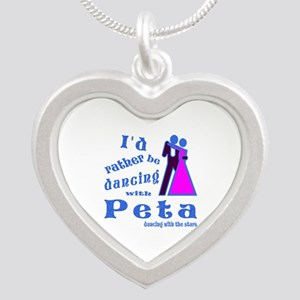 Dancing With Peta Silver Heart Necklace