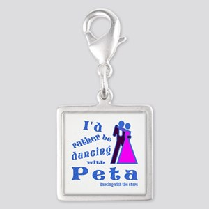Dancing With Peta Silver Square Charm
