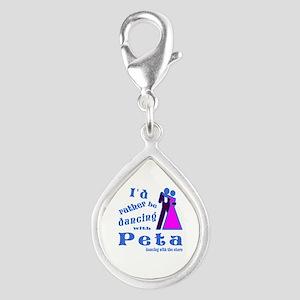 Dancing With Peta Silver Teardrop Charm
