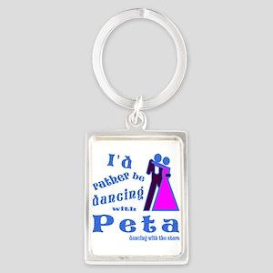 Dancing With Peta Portrait Keychain