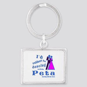 Dancing With Peta Landscape Keychain